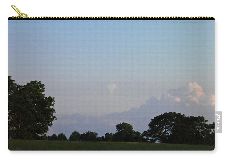 Heart Carry-all Pouch featuring the photograph Heart Cloud by Nick Kirby