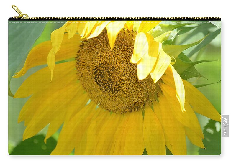 Heart Full Of Gold Carry-all Pouch featuring the photograph Heart Full Of Gold by Maria Urso