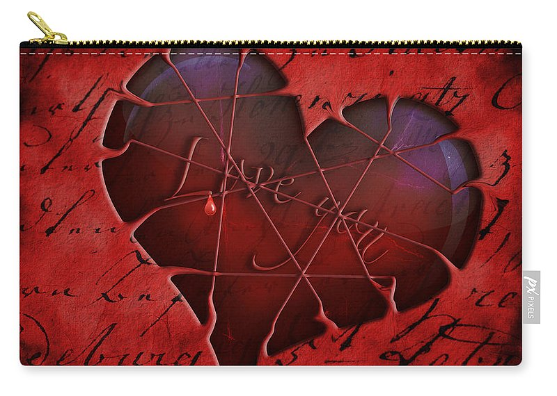 Heart Carry-all Pouch featuring the digital art Heartbeat 2 by Ma Bu