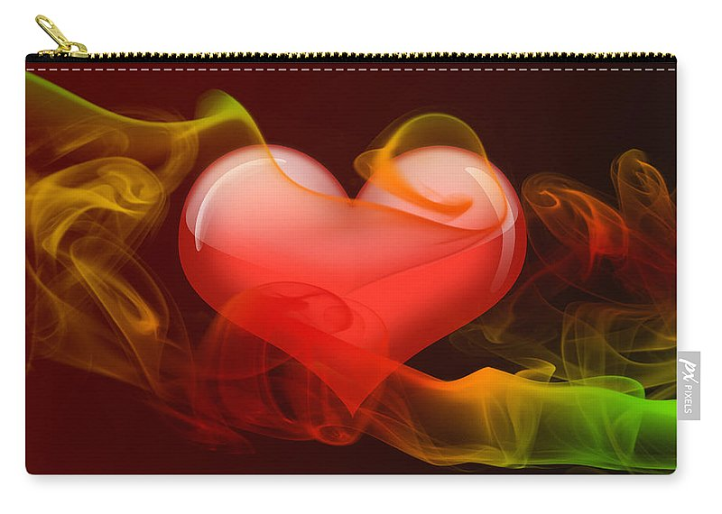 Heart Carry-all Pouch featuring the digital art Heartbeat 4 by Ma Bu