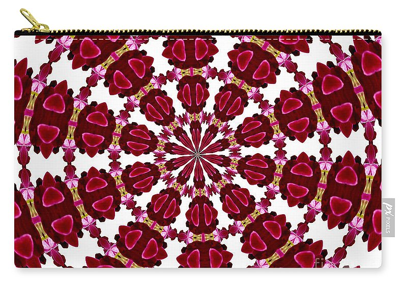Orchids Carry-all Pouch featuring the photograph Hearts And Orchids Kaleidoscope by Rose Santuci-Sofranko
