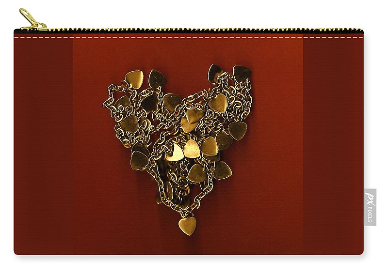 Heart Carry-all Pouch featuring the painting Hearts Within Hearts by Shannon Grissom
