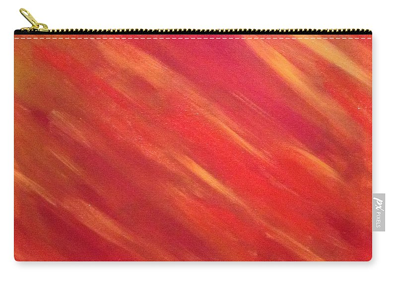 Abstract Using Red Carry-all Pouch featuring the painting Heat Wave by Ambre Wallitsch