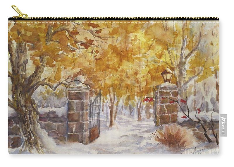 Painting Carry-all Pouch featuring the painting Heaven Beyond by Mohamed Hirji