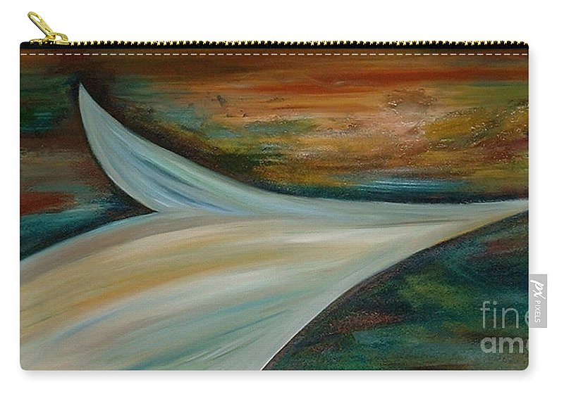 Abstract Carry-all Pouch featuring the painting Heaven by Silvana Abel