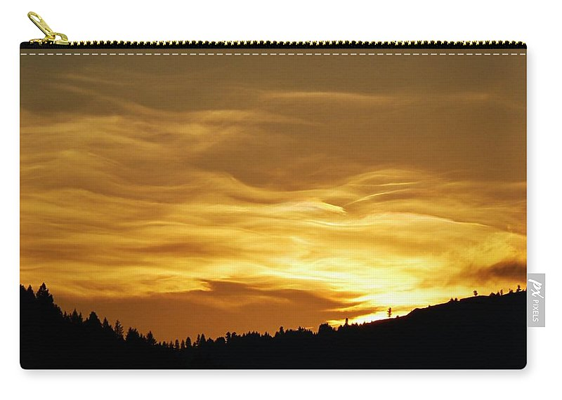 Heavenly Gold Sunset Carry-all Pouch featuring the photograph Heavenly Gold Sunset by Barbara St Jean