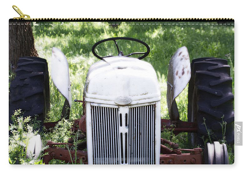 Axle Carry-all Pouch featuring the photograph Heavenly Tractor by Holly Blunkall