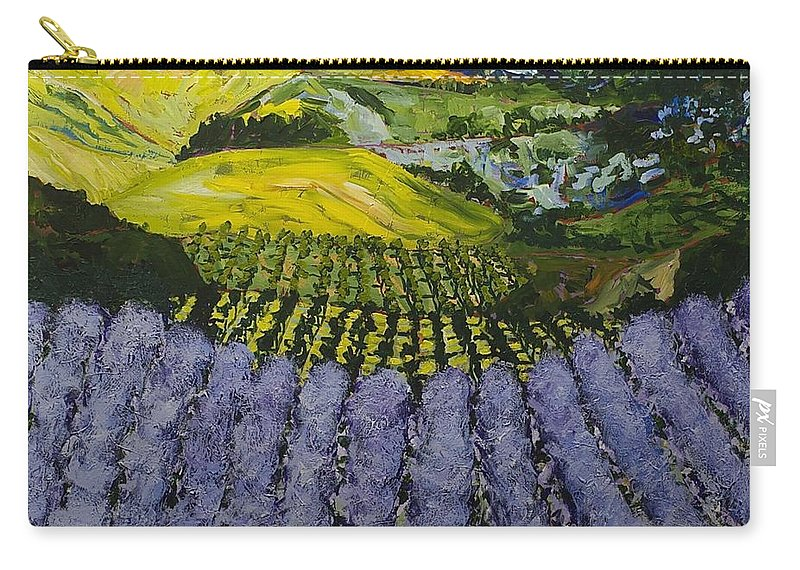 Landscape Carry-all Pouch featuring the painting Heavenly Valley by Allan P Friedlander