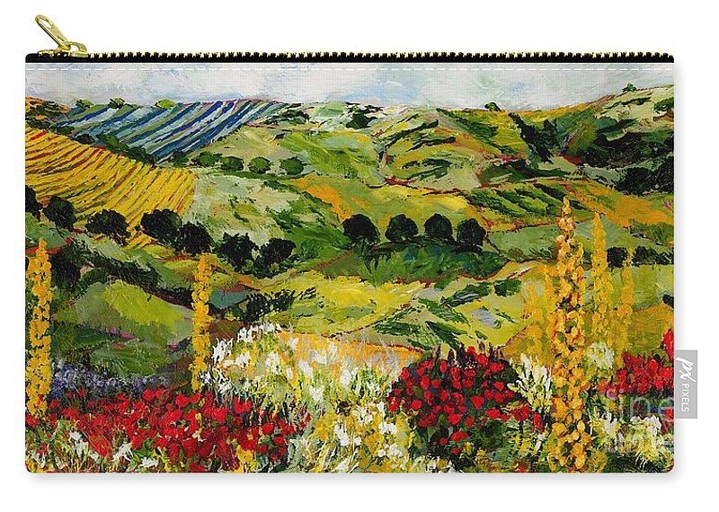Landscape Carry-all Pouch featuring the painting Heavenly View by Allan P Friedlander
