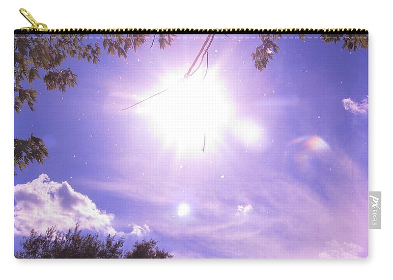 Sky Carry-all Pouch featuring the painting Heavens Blue by Robert Nacke