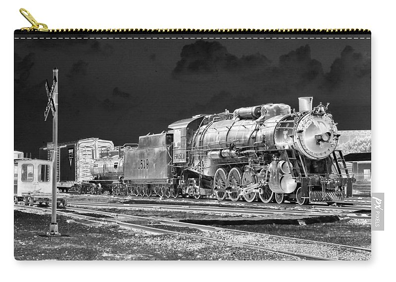 Train Carry-all Pouch featuring the photograph Heavy Metal 1519 - Photopower 1477 by Pamela Critchlow