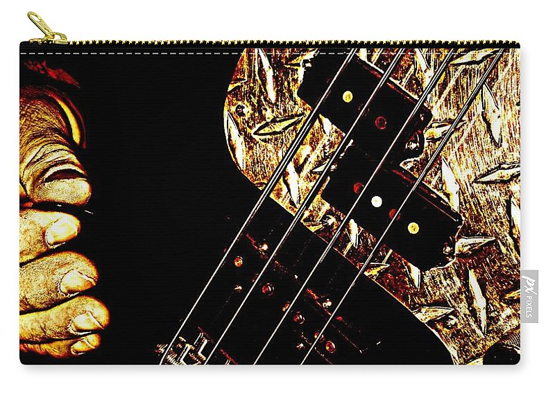 Music Carry-all Pouch featuring the photograph Heavy Metal Bass by Chris Berry