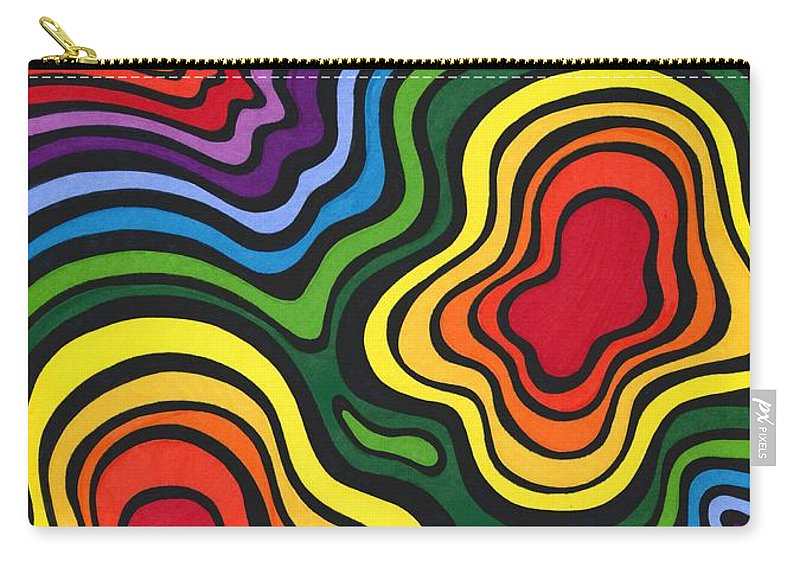 Rainbow Carry-all Pouch featuring the drawing Heavy Rain by Mandy Shupp