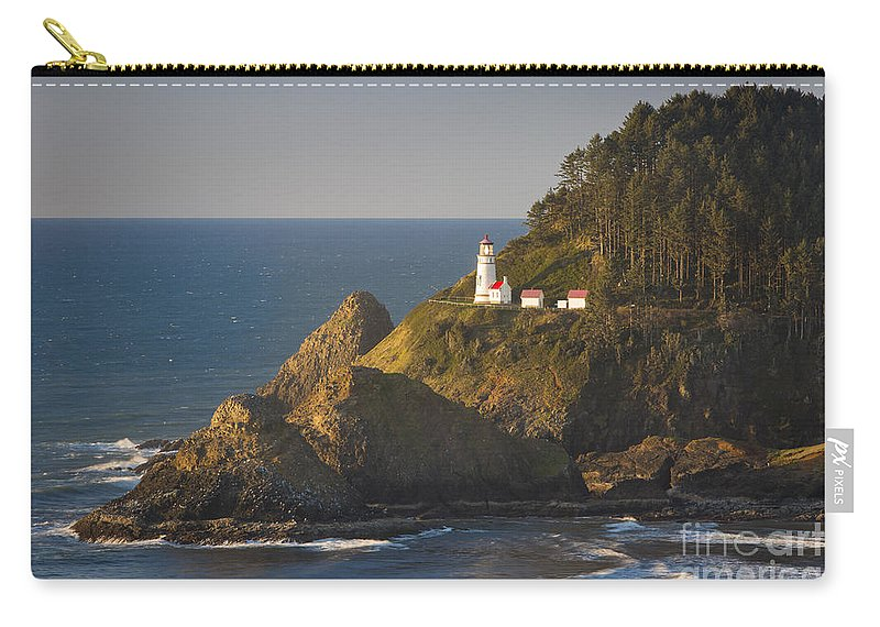 America Carry-all Pouch featuring the photograph Heceta Head Light by Brian Jannsen