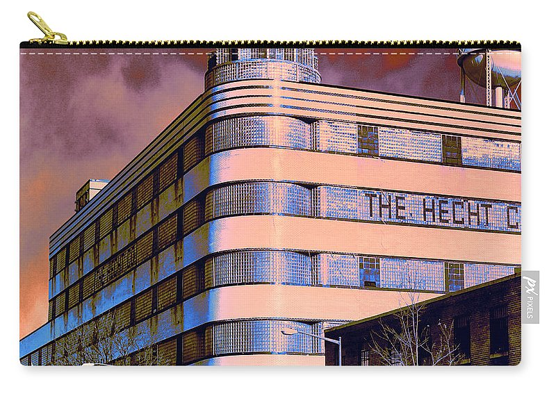 The Hecht Co. Carry-all Pouch featuring the photograph Hecht Warehouse by Dominic Piperata