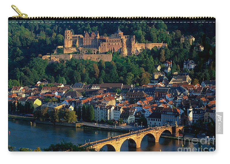 Landscape Carry-all Pouch featuring the photograph Heidelberg, Germany by Gerhard Pieschel