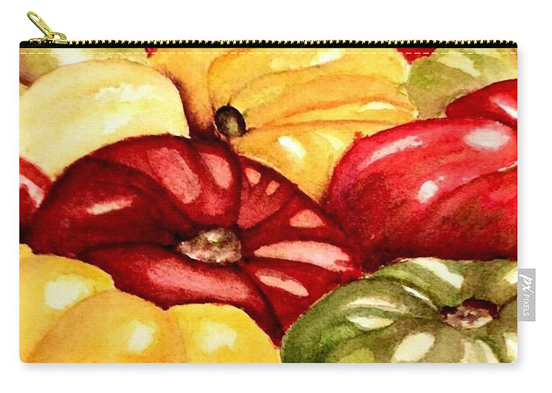 Tomatoes Carry-all Pouch featuring the painting Heirlooms by Nicole Curreri