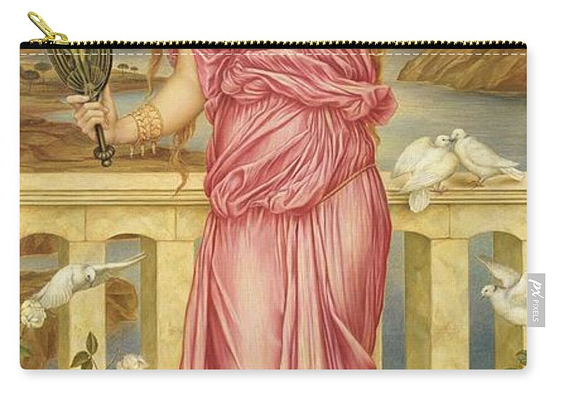 William Carry-all Pouch featuring the painting Helen Of Troy by Evelyn De Morgan