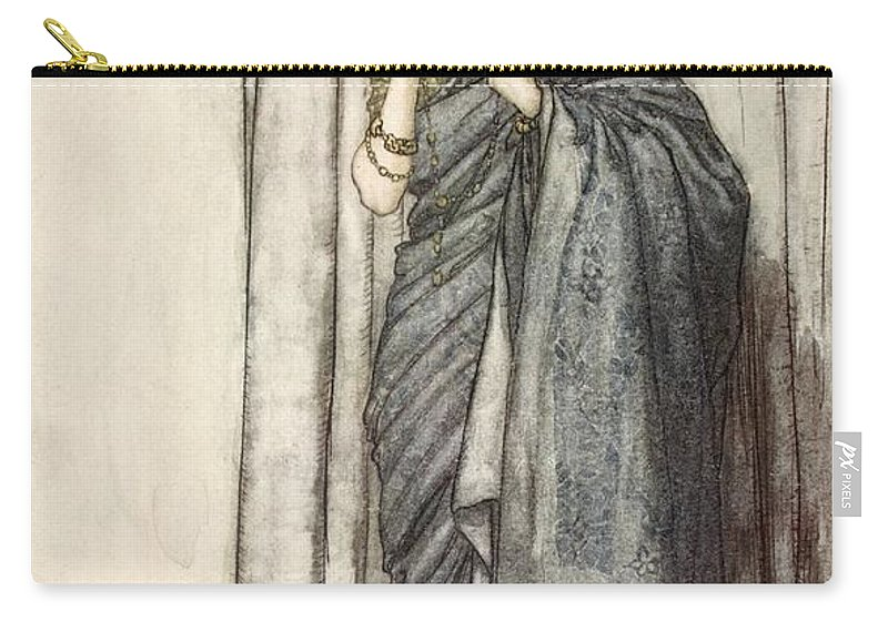C20th Carry-all Pouch featuring the drawing Helena, Illustration From Midsummer by Arthur Rackham