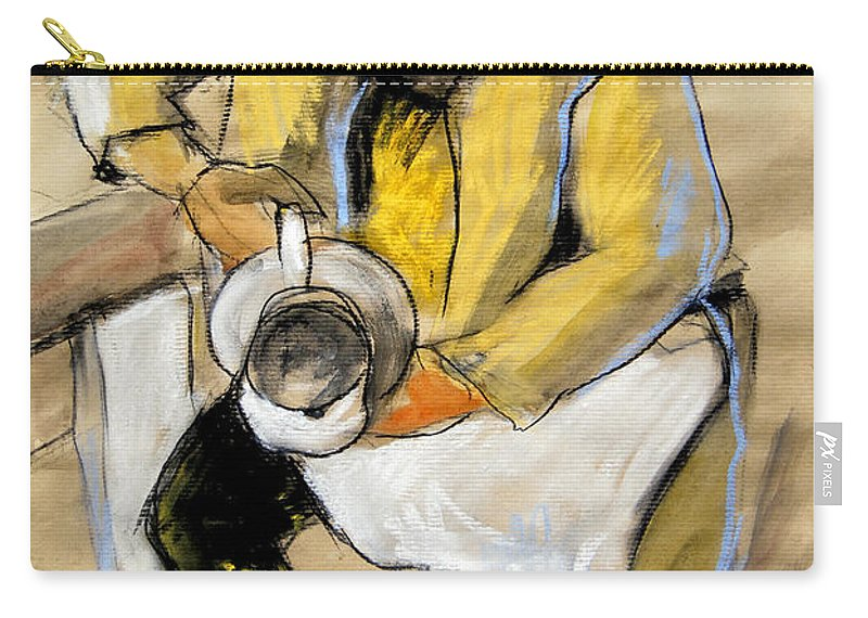 Live Model Study Carry-all Pouch featuring the painting Helene #11 - Figure Series by Mona Edulesco