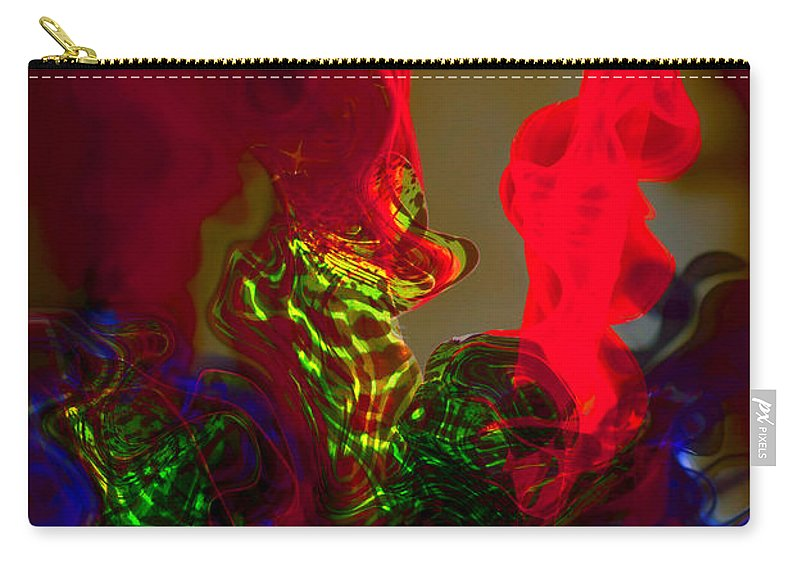Abstract Carry-all Pouch featuring the photograph Helical Reformation by Richard Thomas
