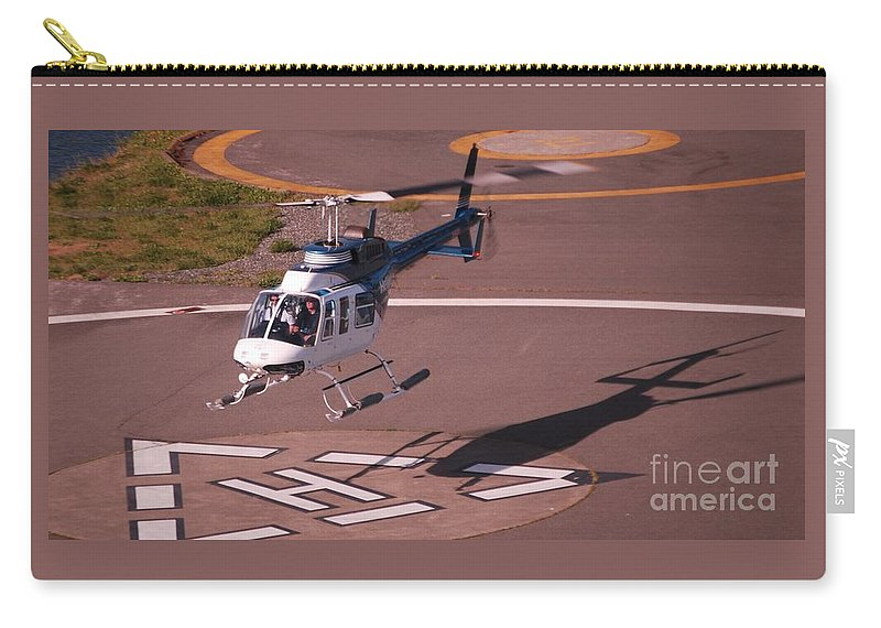 Helicopter Landing Aviation Art Victoria Shadow Aeronautical Canada Landing Triangle Aircraft Movement Heli-pad Circles Travel Tourism Destination Heliport Metal Frame Canvas Print Poster Print Available On T Shirts Tote Bags Weekender Tote Bags Pouches Shower Curtains Greeting Cards Mugs And Phone Cases Carry-all Pouch featuring the photograph Helicopter Landing In Victoria, British Columbia by Marcus Dagan
