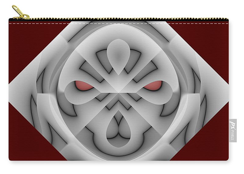 Abstract Carry-all Pouch featuring the digital art Hell Rider by Jack Bowman