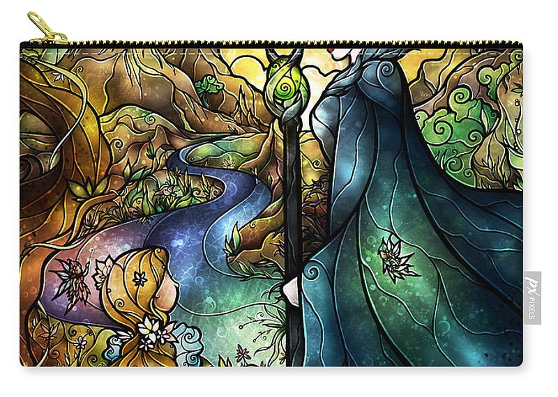 Maleficent Carry-all Pouch featuring the digital art Hello Beastie by Mandie Manzano