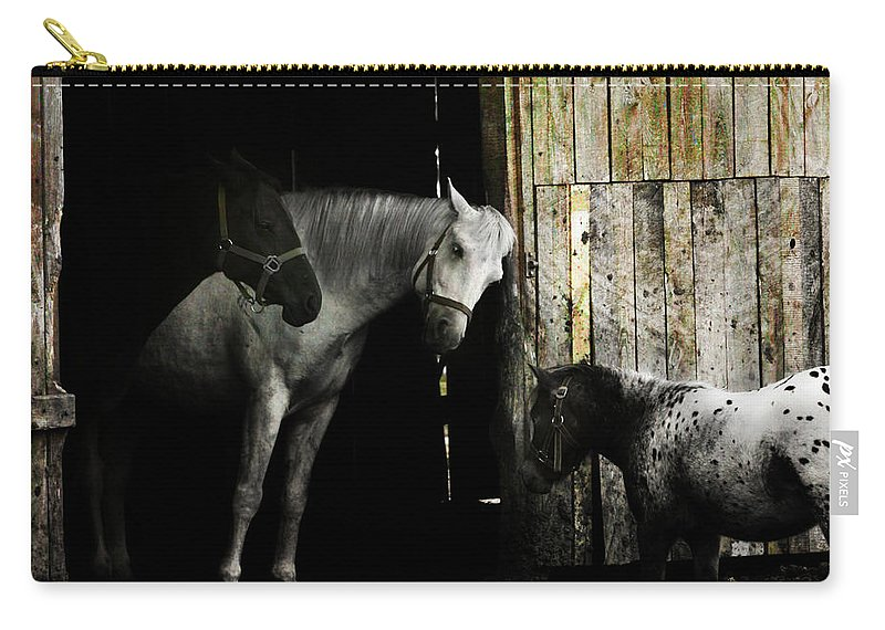 Guest Carry-all Pouch featuring the photograph Hello Neighbour by Angel Ciesniarska