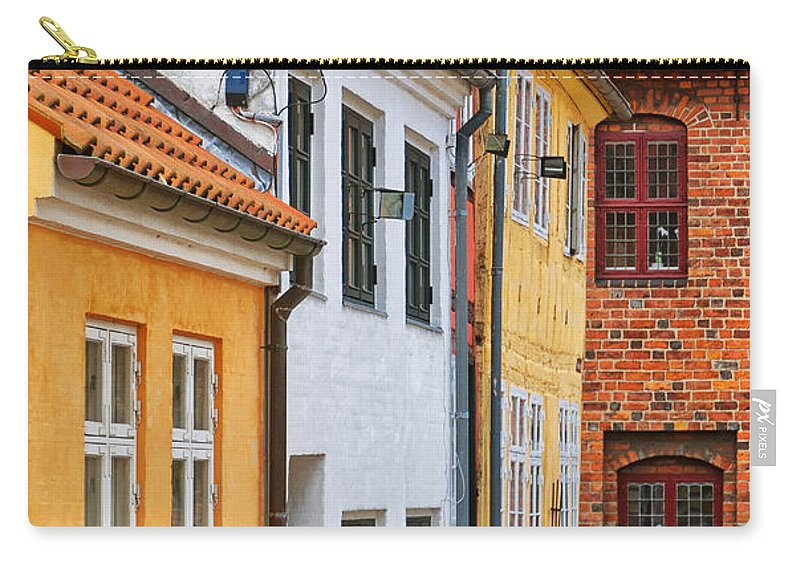 Denmark Carry-all Pouch featuring the photograph Helsingor Town Centre by Antony McAulay