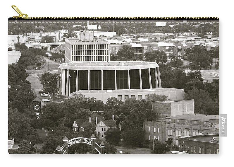 Architecture Carry-all Pouch featuring the photograph Hemisfair Park 2013 by Shawn Marlow