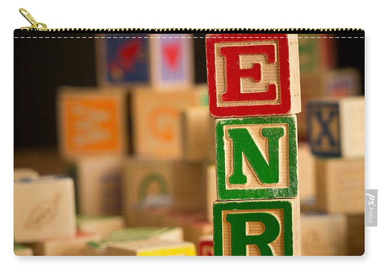 Abcs Carry-all Pouch featuring the photograph Henry - Alphabet Blocks by Edward Fielding