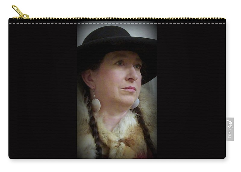Hat Carry-all Pouch featuring the photograph Her Hat And Fur by Cindy New