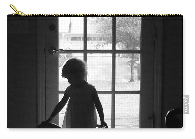 Children's Room Carry-all Pouch featuring the photograph Her Rocking Horse by Valerie Reeves