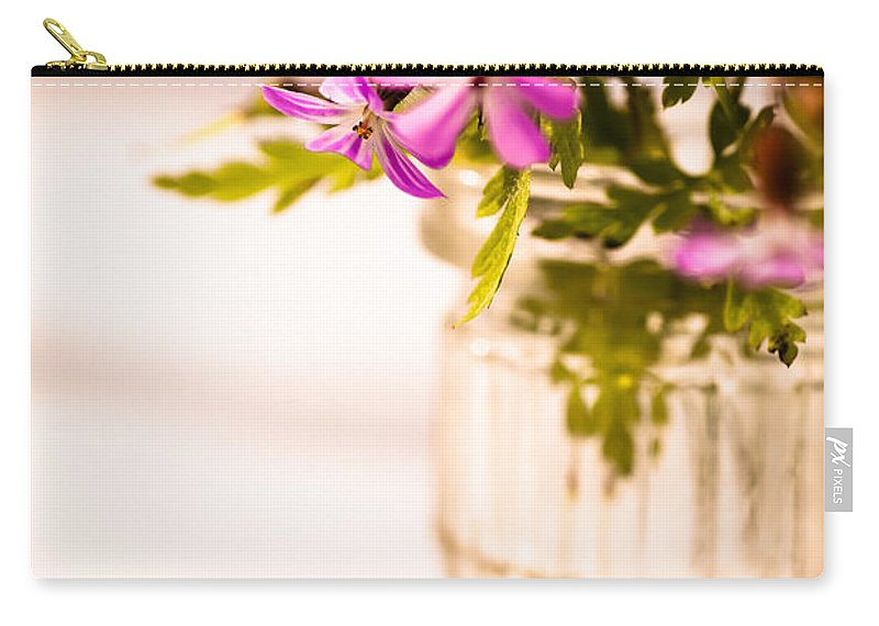 Wildflowers Carry-all Pouch featuring the photograph Herb Robert Posy by Jan Bickerton