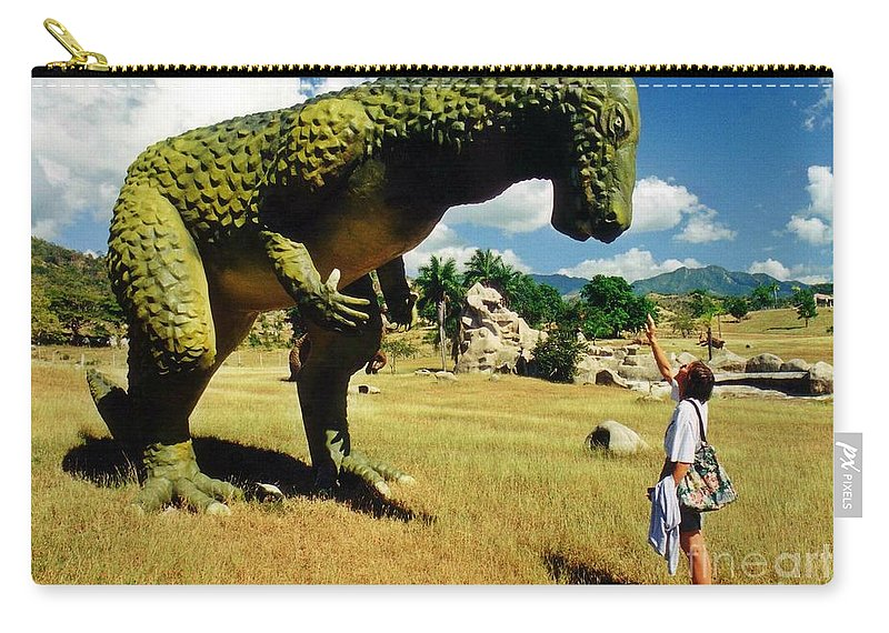 Here Fido Carry-all Pouch featuring the photograph Here Fido by John Malone