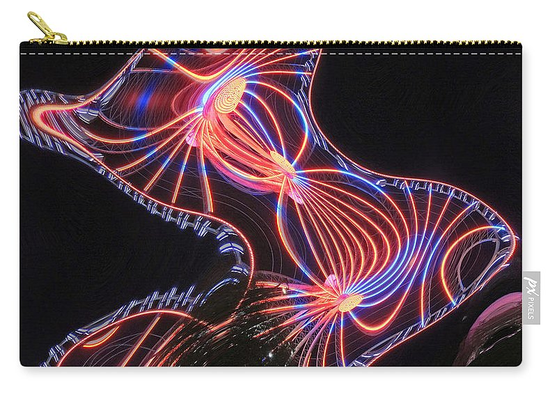 Digital Art Carry-all Pouch featuring the photograph Here Kitty by Marian Bell
