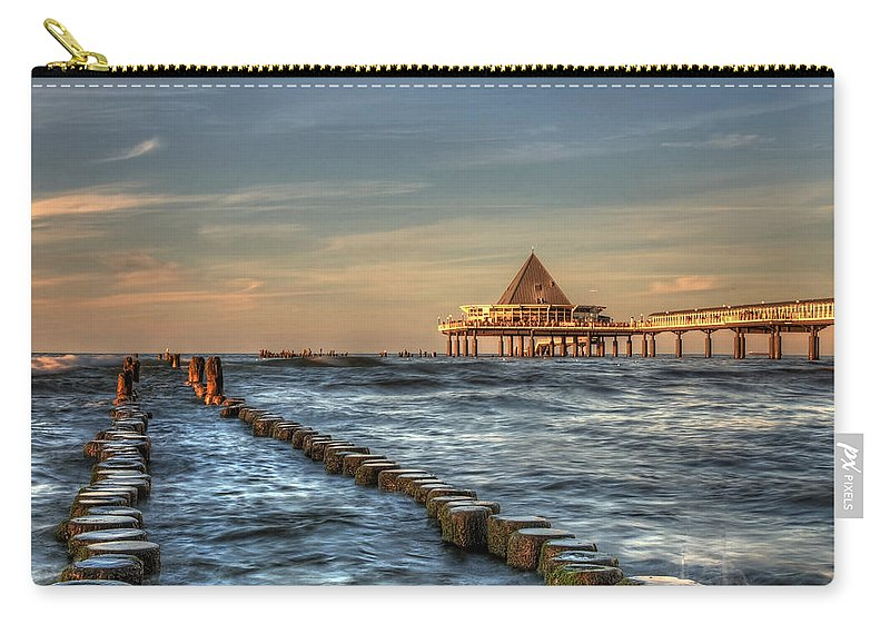 Baltic Sea Carry-all Pouch featuring the pyrography Heringsdorf by Steffen Gierok