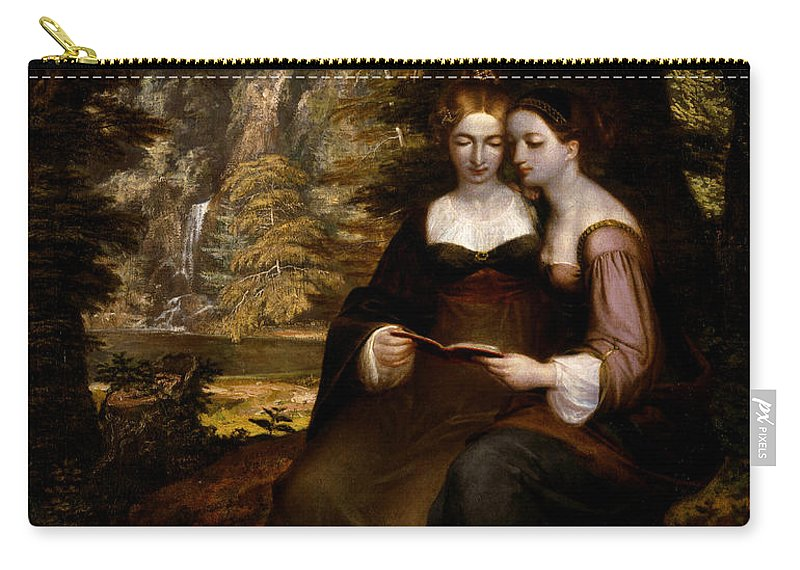 Washington Allston Carry-all Pouch featuring the painting Hermia And Helena by Washington Allston
