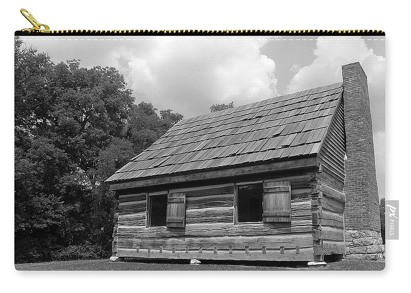 Black And White Carry-all Pouch featuring the photograph Hermitage Farmhouse 1 by Denise Mazzocco