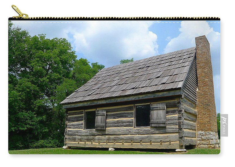 Cabin Carry-all Pouch featuring the photograph Hermitage Farmhouse by Denise Mazzocco