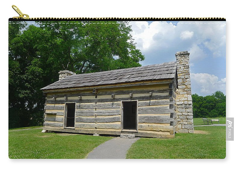 Cabin Carry-all Pouch featuring the photograph Hermitage Slave Quarters by Denise Mazzocco