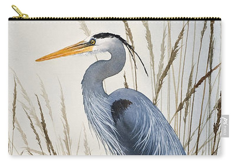 Heron Carry-all Pouch featuring the painting Herons Natural World by James Williamson