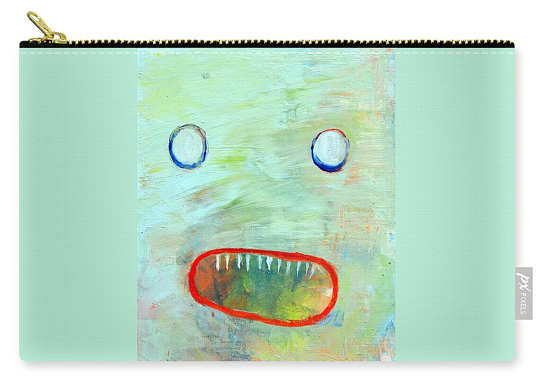 Monster Carry-all Pouch featuring the painting He's Just Misunderstood by Melissa Peterson