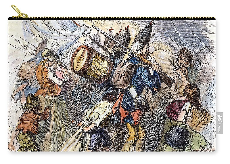 18th Century Carry-all Pouch featuring the photograph Hessian Mercenaries, 18th C by Granger