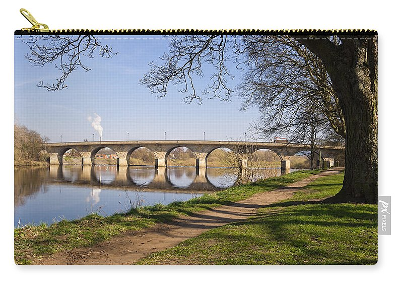 Northumberland Carry-all Pouch featuring the photograph Hexham Bridge And Riverside Path by David Head
