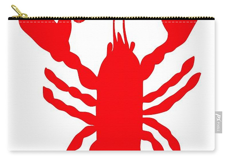 Hey Baby Lobster With Feelers 2012 � Julie Knapp Carry-all Pouch featuring the digital art Hey Baby Lobster With Feelers by Julie Knapp