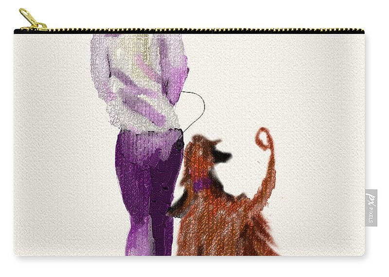Ipad Painting Carry-all Pouch featuring the painting Hey Ma Look Over There by Terry Chacon