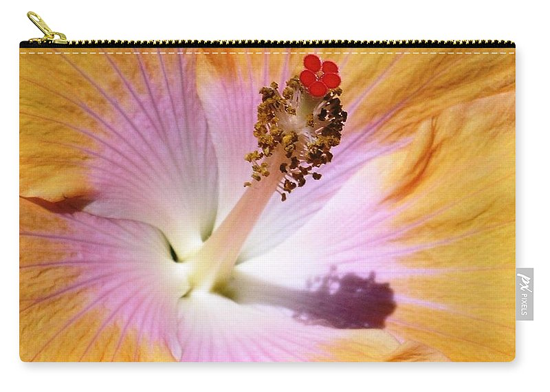 Hibiscus Carry-all Pouch featuring the photograph Hibiscus Center by Mary Deal