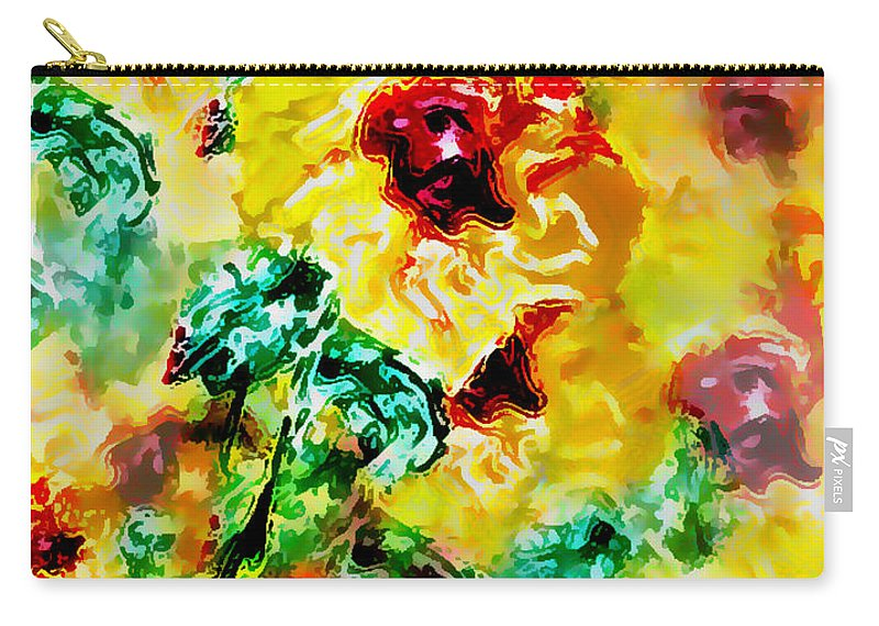Flowers Carry-all Pouch featuring the digital art Hibiscus Impressionist by William Braddock